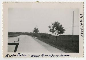 Primary view of object titled '[Photograph of Autobahn near Günzburg, Germany]'.