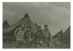 Primary view of object titled '[Photograph of Soldiers in Camp]'.