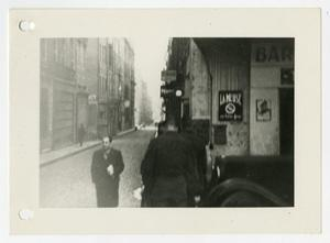 Primary view of object titled '[Photograph of City Street]'.