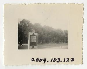 Primary view of object titled '[Photograph of Road Sign]'.