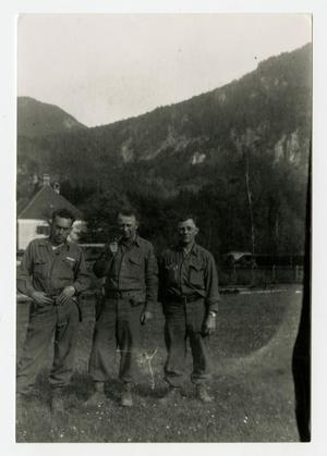 Primary view of object titled '[Photograph of Soldiers in Germany]'.
