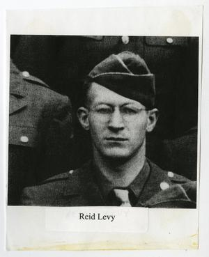 Primary view of object titled '[Photograph of Reid Levy in Uniform]'.