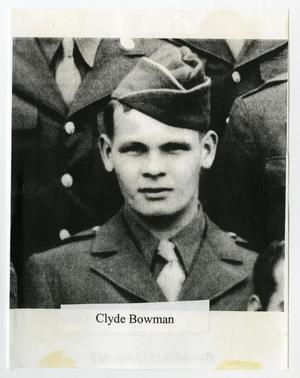 Primary view of object titled '[Photograph of Clyde Bowman]'.