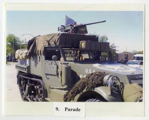 Primary view of object titled '[Photograph of Halftrack in Parade]'.