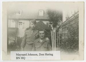 Primary view of object titled '[Photograph of Maynard Johnson and Don Hering]'.