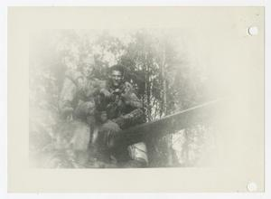 Primary view of object titled '[Photograph of Soldiers on Tank]'.