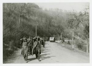 Primary view of object titled '[Photograph of German Prisoners Marching]'.
