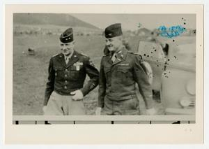Primary view of object titled '[Photograph of General Allen and Colonel Charles Bromley]'.
