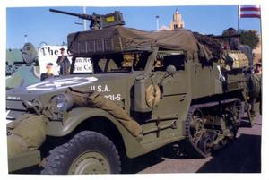 Primary view of object titled '[Halftrack with Machine Gun]'.