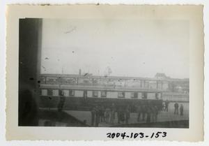 Primary view of object titled '[Photograph of Train Station Near English Port]'.