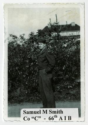 Primary view of object titled '[Samuel Smith in Front of Hedgerow]'.
