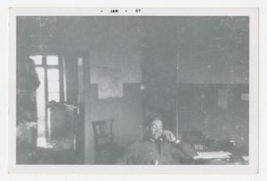 Primary view of object titled '[Photograph of Stan Folkman in Office]'.