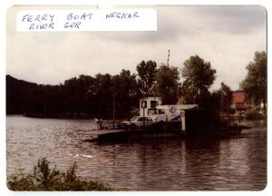 Primary view of object titled '[Ferry Boat on Neckar River in Germany]'.