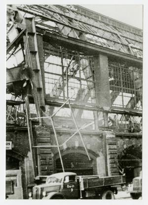 Primary view of object titled '[Photograph of Building Construction]'.