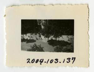 Primary view of object titled '[Photograph of Street Corner in France]'.