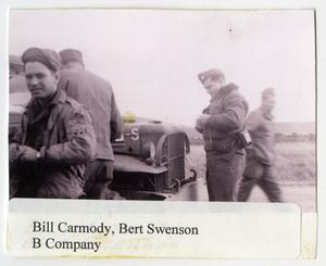 Primary view of object titled '[Photograph of Bill Carmody and Bert Swenson]'.