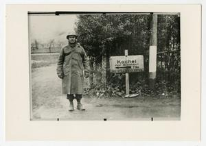 Primary view of object titled '[Photograph of Lt. Col. Scott Hall in Germany]'.