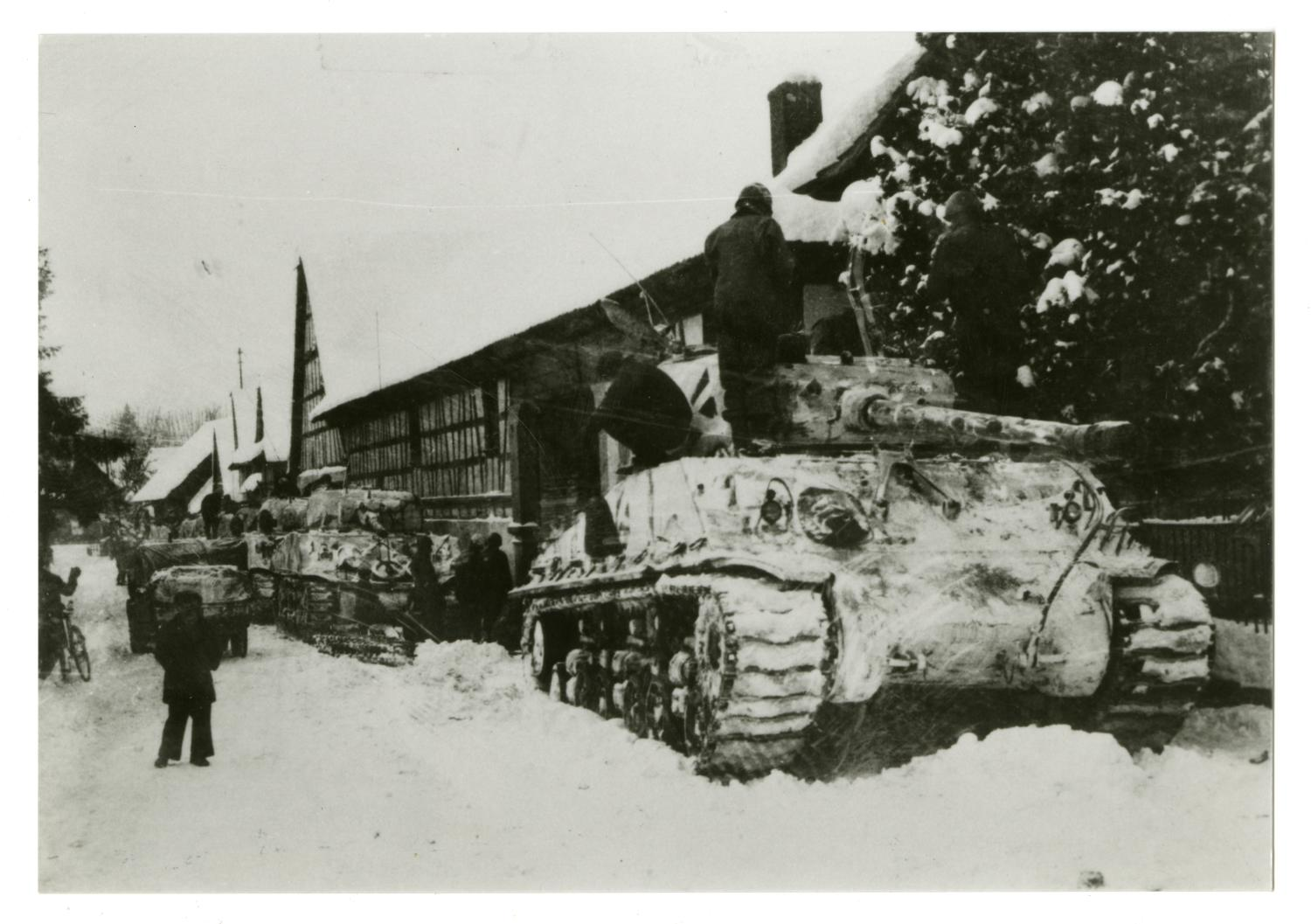 [Photograph of Snow-Covered Tanks]                                                                                                      [Sequence #]: 1 of 2