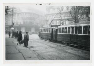 Primary view of object titled '[Photograph of Street in Nancy, France]'.