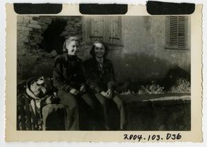 Primary view of object titled '[Photograph of Women in Singling, France]'.