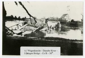 Primary view of object titled '[Lauingen Bridge on Danube River]'.