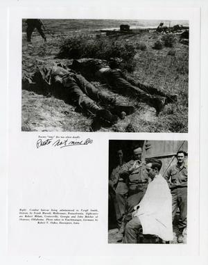 Primary view of object titled '[Photographs of Killed Soldiers and Combat Haircut]'.