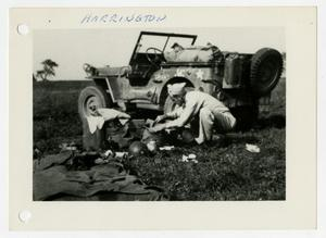 Primary view of object titled '[Photograph of Soldier Working]'.