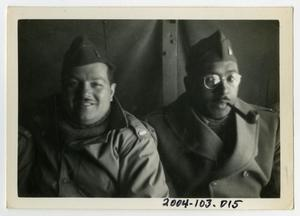 Primary view of object titled '[Photograph of Lieutenants in Truck]'.