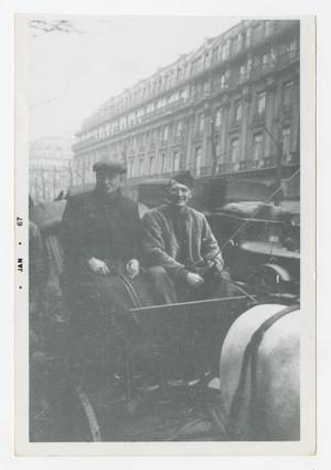 Primary view of object titled '[Photograph of Stan Folkman in Carriage]'.
