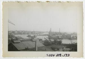 Primary view of object titled '[Photograph of English Harbor Scene]'.