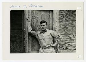 Primary view of object titled '[Photograph of Alvin E. Johnson]'.
