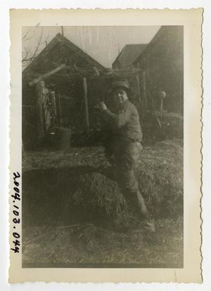 Primary view of object titled '[Photograph of Soldier at Farm]'.