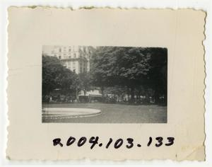 Primary view of object titled '[Photograph of German City Park]'.