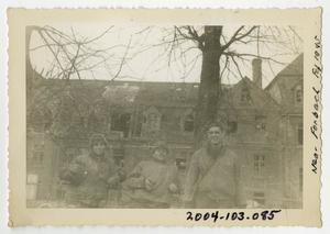 Primary view of object titled '[Photograph of Soldiers Near Forbach, France]'.