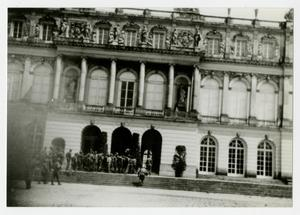 Primary view of object titled '[Photograph of Soldiers Entering Building]'.