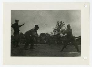 Primary view of object titled '[Photograph of Soldiers Playing Baseball]'.