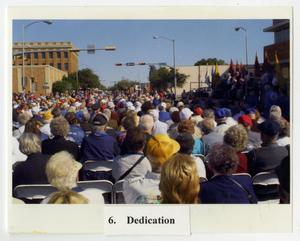 Primary view of object titled '[Photograph of Crowd at Dedication Ceremony]'.