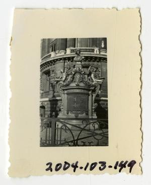 Primary view of object titled '[Photograph of Monument Outside Palais Garnier]'.