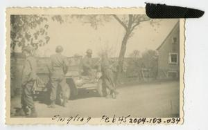 Primary view of object titled '[Photograph of Soldiers in Singling, France]'.