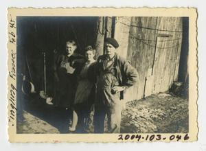 Primary view of object titled '[Photograph of Civilians in Singling, France]'.