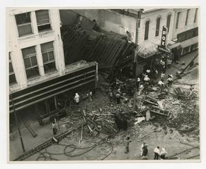 Primary view of object titled '[Aerial View of Building Collapse]'.