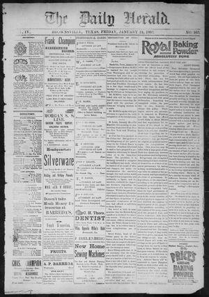 Primary view of object titled 'The Daily Herald (Brownsville, Tex.), Vol. 4, No. 163, Ed. 1, Friday, January 24, 1896'.
