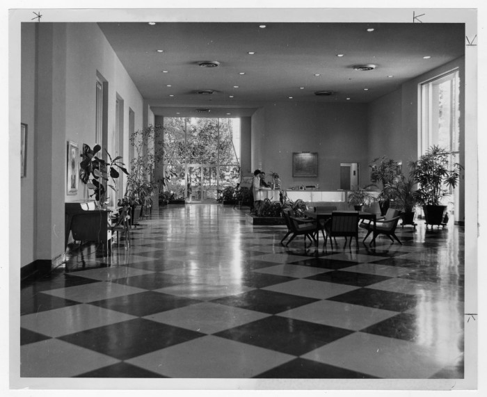 Primary View Of Object Titled U0027[Checkered Floor At Dallas Garden Center ...
