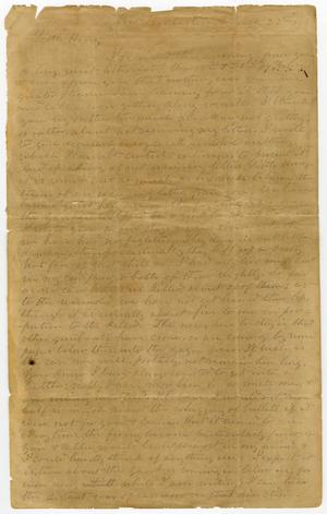 Primary view of [Letter from L. D. Bradley to Minnie Bradley - March 22, 1863]