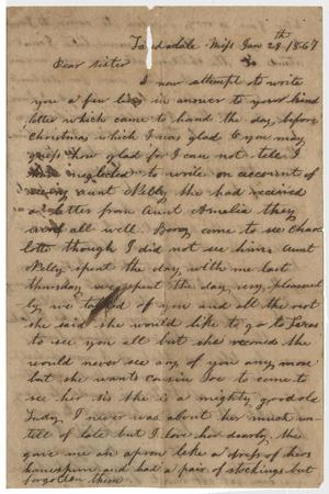 Primary view of object titled '[Letter from E. Whitlock - January 29, 1867]'.