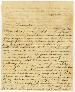 Primary view of object titled '[Letter from Minnie Bradley to L. D. Bradley - October 21]'.