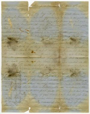 Primary view of object titled '[Letter from J. L. Halbert to Fanny Halbert - December 13, 1864]'.