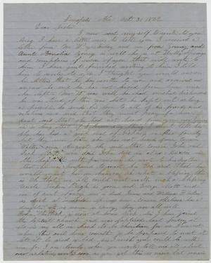 Primary view of object titled '[Letter from E. Whitlock - October 31, 1862]'.
