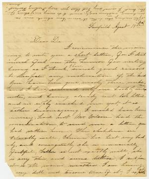 Primary view of object titled '[Letter from Minnie Bradley to L. D. Bradley - August 19]'.
