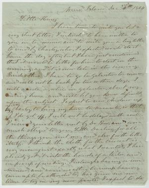 Primary view of object titled '[Letter from L. D. Bradley to Minnie Bradley - December 3, 1864]'.